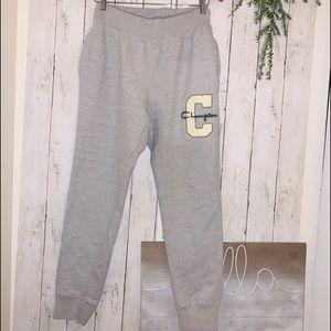 Champion reverse weave grey sweatpants Sz M